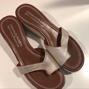 Donald J Pliner Silver Salya Platform Sandals